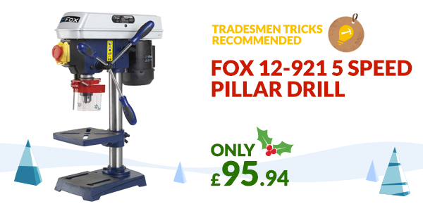 Fox 12-921 5 speed pillar drill Christmas Gift idea